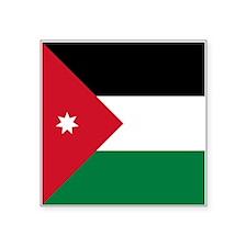 "Jordan Flag Square Sticker 3"" x 3"""