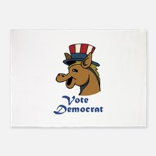 VOTE DEMOCRAT 5'x7'Area Rug
