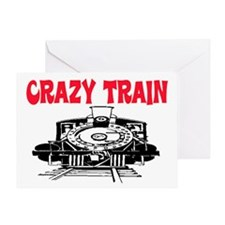 CRAZY TRAIN Greeting Card