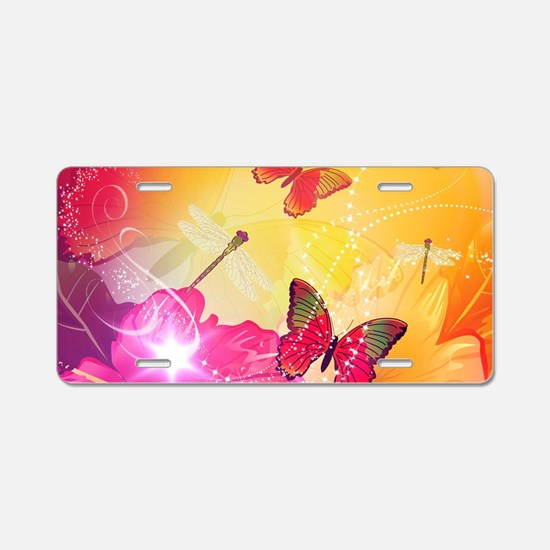 Awesome colorful flowers and butterflys Aluminum L