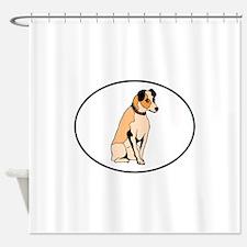Parson Russell Terrier Shower Curtain