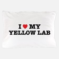 I Heart My Yellow Lab Pillow Case