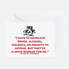 HUNTER S. THOMPSON QUOTE (ORIG) Greeting Card