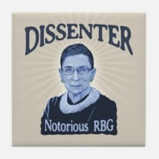 Notorious Dissenter Tile Coaster