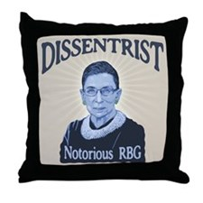 Notorious Dissenter Throw Pillow