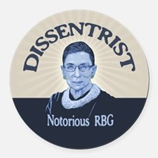 Notorious Dissenter Round Car Magnet
