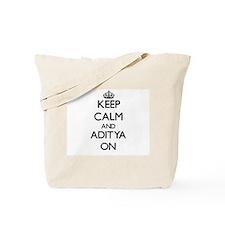 Keep Calm and Aditya ON Tote Bag