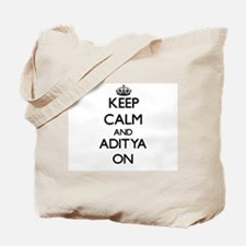 Keep Calm and Aditya ON Tote Bag