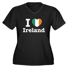 I love Ireland Women's Plus Size V-Neck Dark T-Shi