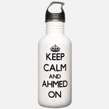 Keep Calm and Ahmed ON Water Bottle
