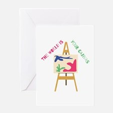 World Is Your Canvas Greeting Cards