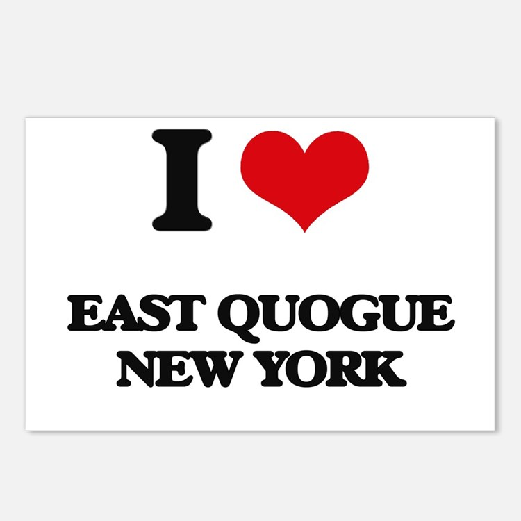 I love East Quogue New Yo Postcards (Package of 8)