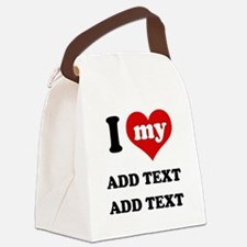 Cool I love Canvas Lunch Bag