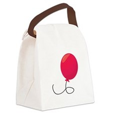 Red Balloon Canvas Lunch Bag