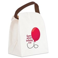 Guess Whose Birthday Canvas Lunch Bag