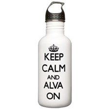 Keep Calm and Alva ON Water Bottle