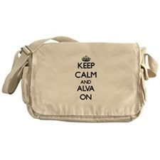 Keep Calm and Alva ON Messenger Bag