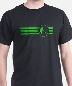 Hockey Player Stripes (Green) T-Shirt