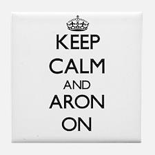 Keep Calm and Aron ON Tile Coaster