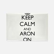 Keep Calm and Aron ON Magnets
