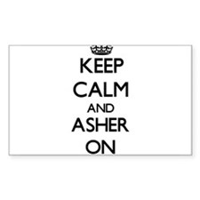 Keep Calm and Asher ON Decal