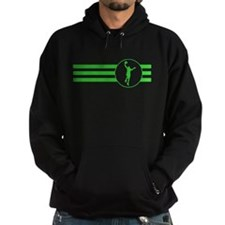 Basketball Layup Stripes (Green) Hoodie