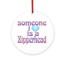Cute Zipperhead Ornament (Round)