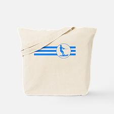 Water Skier Stripes (Blue) Tote Bag