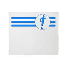 Runner Stripes (Blue) Throw Blanket