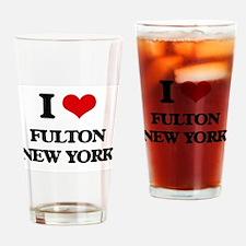 I love Fulton New York Drinking Glass