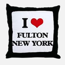 I love Fulton New York Throw Pillow