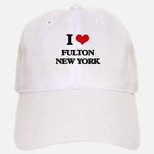I love Fulton New York Baseball Baseball Cap