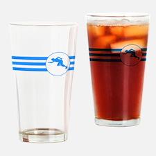 Runner Stripes (Blue) Drinking Glass