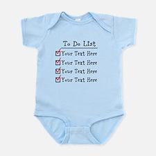 Editable To Do List Infant Bodysuit