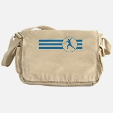 Javelin Throw Stripes (Blue) Messenger Bag