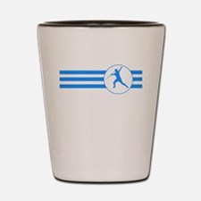 Javelin Throw Stripes (Blue) Shot Glass