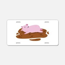Happy Pig Aluminum License Plate