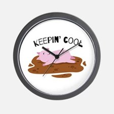 Keepin Cool Wall Clock