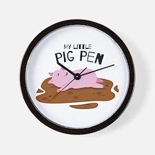My Pig Pen Wall Clock