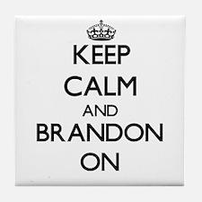 Keep Calm and Brandon ON Tile Coaster