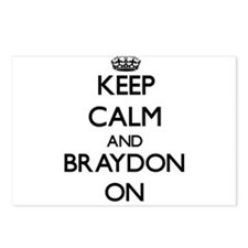 Keep Calm and Braydon ON Postcards (Package of 8)