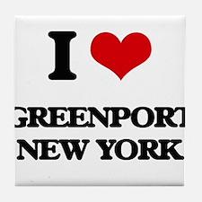 I love Greenport New York Tile Coaster