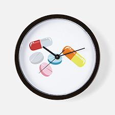 Mixed Pills Wall Clock