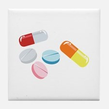 Mixed Pills Tile Coaster