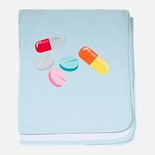 Mixed Pills baby blanket