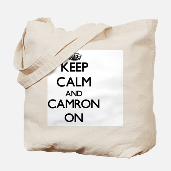 Keep Calm and Camron ON Tote Bag