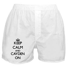 Keep Calm and Cayden ON Boxer Shorts