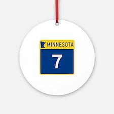 Trunk Highway 7, Minnesota Ornament (Round)