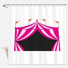 Pink Circus Tent Shower Curtain