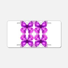 Mirrored Awareness Butterflies Aluminum License Pl
